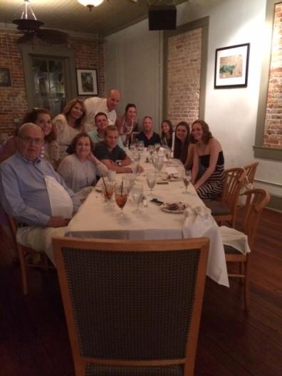 vaca 2015 group at dinner