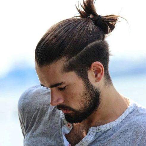 man-bun-shaved-sides