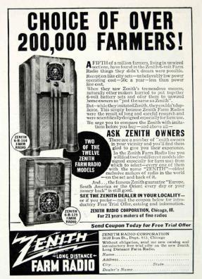 blog zenith adv 1930 radio