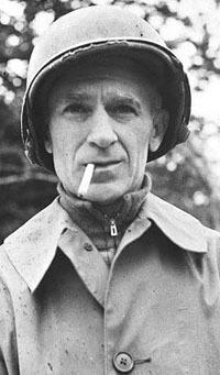 Ernie Pyle Wearing Helmet