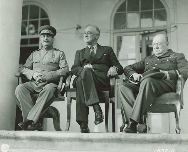 The Big 3 WWII, Churchill, Stalin, FDR
