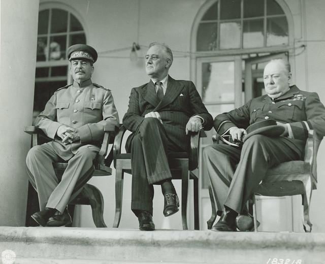 The Big 3 WWII, Churchill, Stalin, FDR
