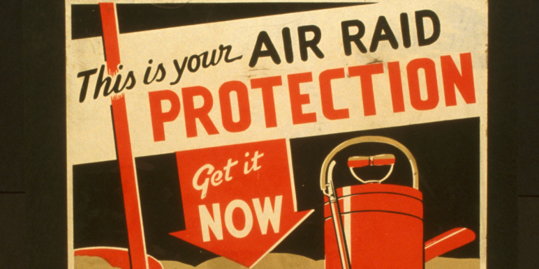 air-raid advertisement