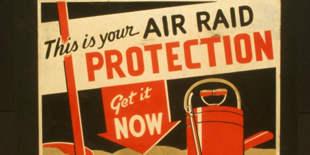 air-raid advertisement