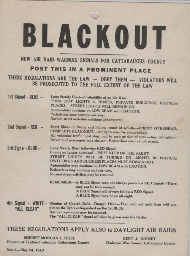 air raid info