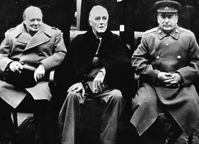 Yalta Conference. Winston Churchill, Franklin