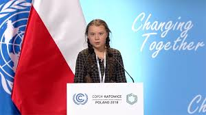 Greta Thurnberg speaks at the U.N. about Climate Change