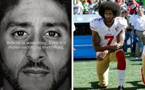 Colin Kaepernick kneels to support Black Lives Matter
