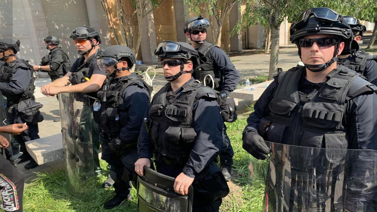 Barr's unmarked militia in DC during protests